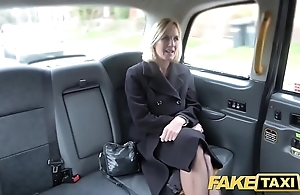 Fake taxi-cub adult milf gets the brush chunky pink flaps stretched plainly