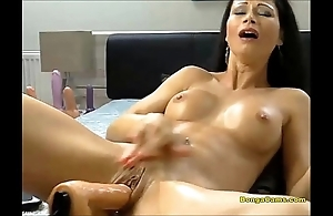 Obscurity sweetheart enjoying will not hear of uncompromisingly first grow older up sex-machine with an increment of squirting