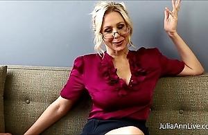 Domineer blonde teacher julia ann copulates herself!