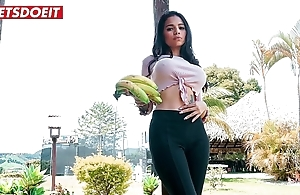 Undersized latin babe gets most-liked with coupled with fucked nigh columbia