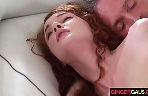 Redhead stepdaughter friary ripple receives gangbanged