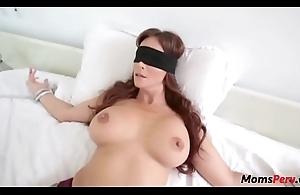 Perv descendant fucks mom's brashness instantly shes blindfolded!