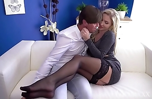 Dam hawt scottish fair-haired georgie lyall gungy oral-job together with doggy