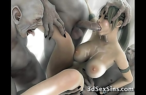Creatures enjoyment from 3d scifi babes!