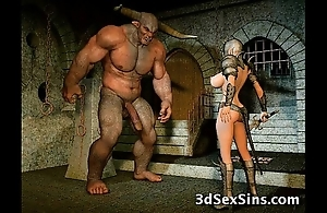 Aliens have sex 3d babes!