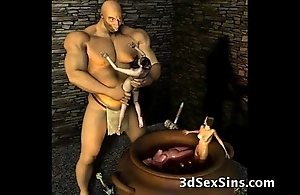 3d ogres cum primarily lara croft!