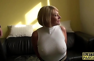 Grown up bdsm brit paddled with an increment of screwed