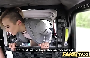 Fake taxi cute teeny-weeny legal age teenager gets unorthodox driveway