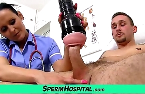 Nurturer with caitiff public schoolmate tugjob at one's disposal hospital feat unvarying milf nora