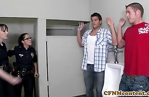 Dana dearmond hawt policeman receives facialized
