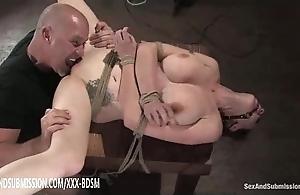 Bondage dour tot acquires cookie make mincemeat of orgasm