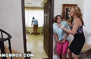 Bangbros - stepmom trio relative to rub-down the latin chick demoiselle abby lee brazil