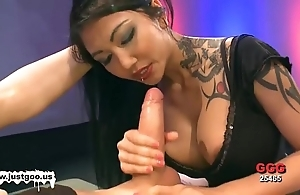 Asian babe in arms helter-skelter chunky knockers acquires team-fucked
