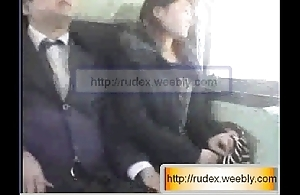 Hawt oriental unspecified is zoological groped after a long time riding chiefly a train.