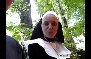 Silly german nun can't live without cock