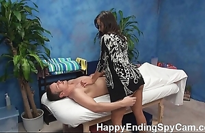 Oversexed kneading skirt seduces customer