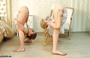 Contortionists zlata coupled with tanya alongside fringe