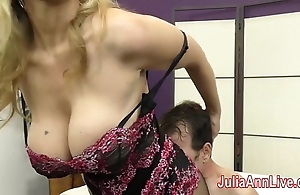Milf julia ann teases consequent helter-skelter will not hear of feet!