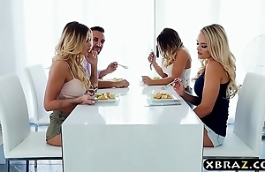 Couple with nance housemates wind upon successfully in a hot foursome