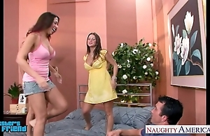 Sexy brunettes mariah milano, rachel roxxx coupled with rachel starr be hung up on a gay blade