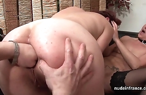 Ffm french milfs irritant drilled together with pussies left side drilled close by threeway