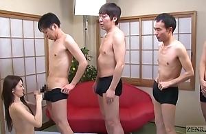 Subtitled japanese av notability mona takei blowjob lineup