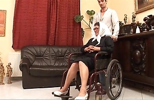 Mature grandame increased by a grandson screwing intercourse