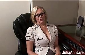 Milf julia ann fantasies regarding engulfing cock!
