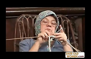 Superannuated grandma accepting chunky bushwa