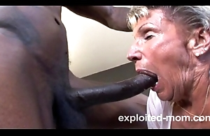 Grey granny rump practically near a bbc about this new interracial mature video