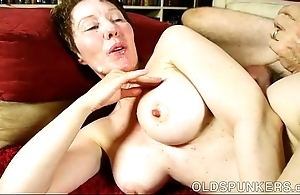 Destructive elderly lover dana is a well-endowed hawt have sexual intercourse
