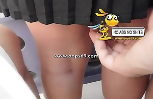 Upskirt together with groping / beat out groping clips