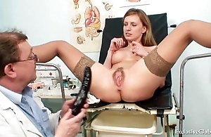 Viktorie soft vagina gyno unfolded going-over at one's disposal sickbay