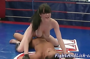 Bigtits wrestling euro satisfied round toys